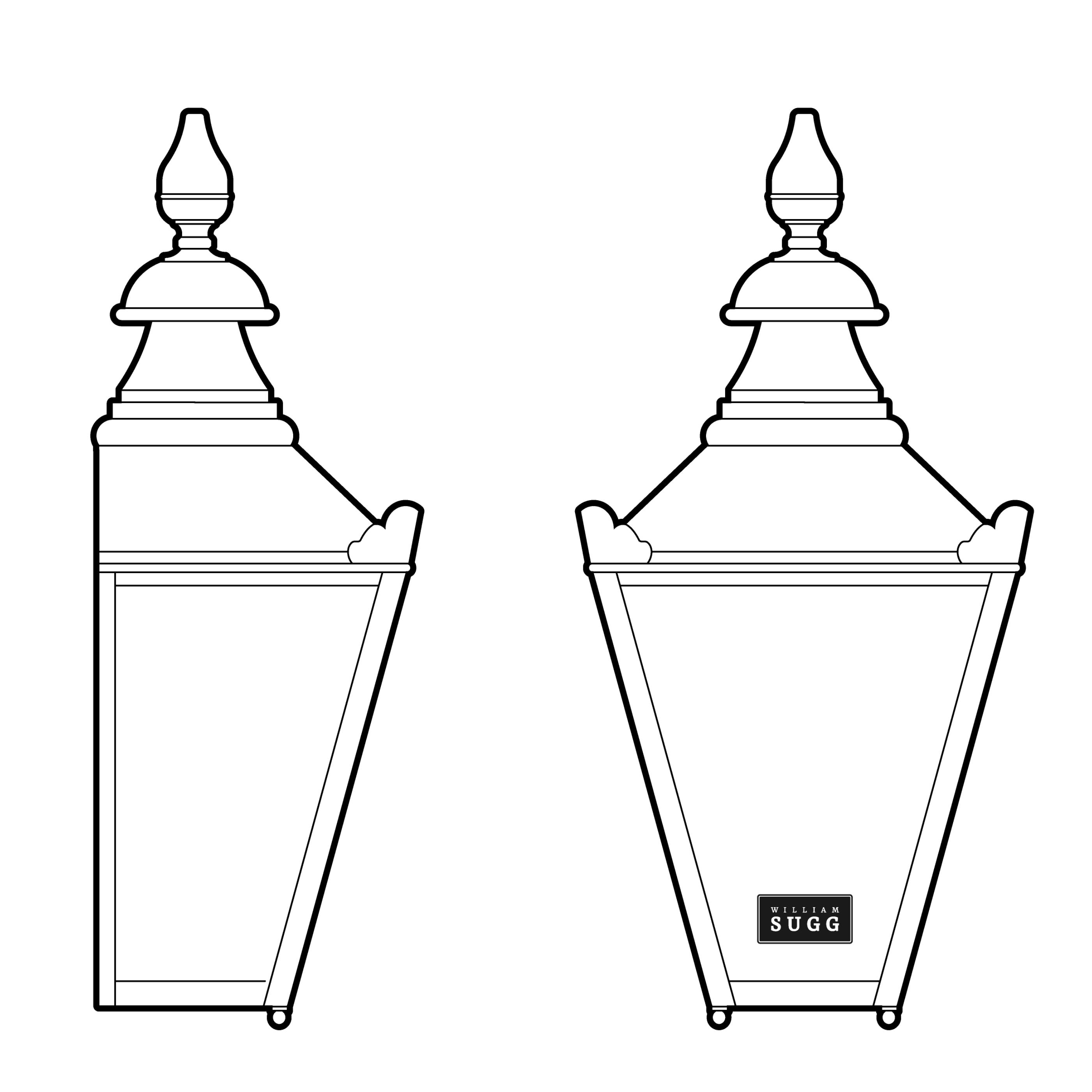 Windsor Back Lamp. Gas.
