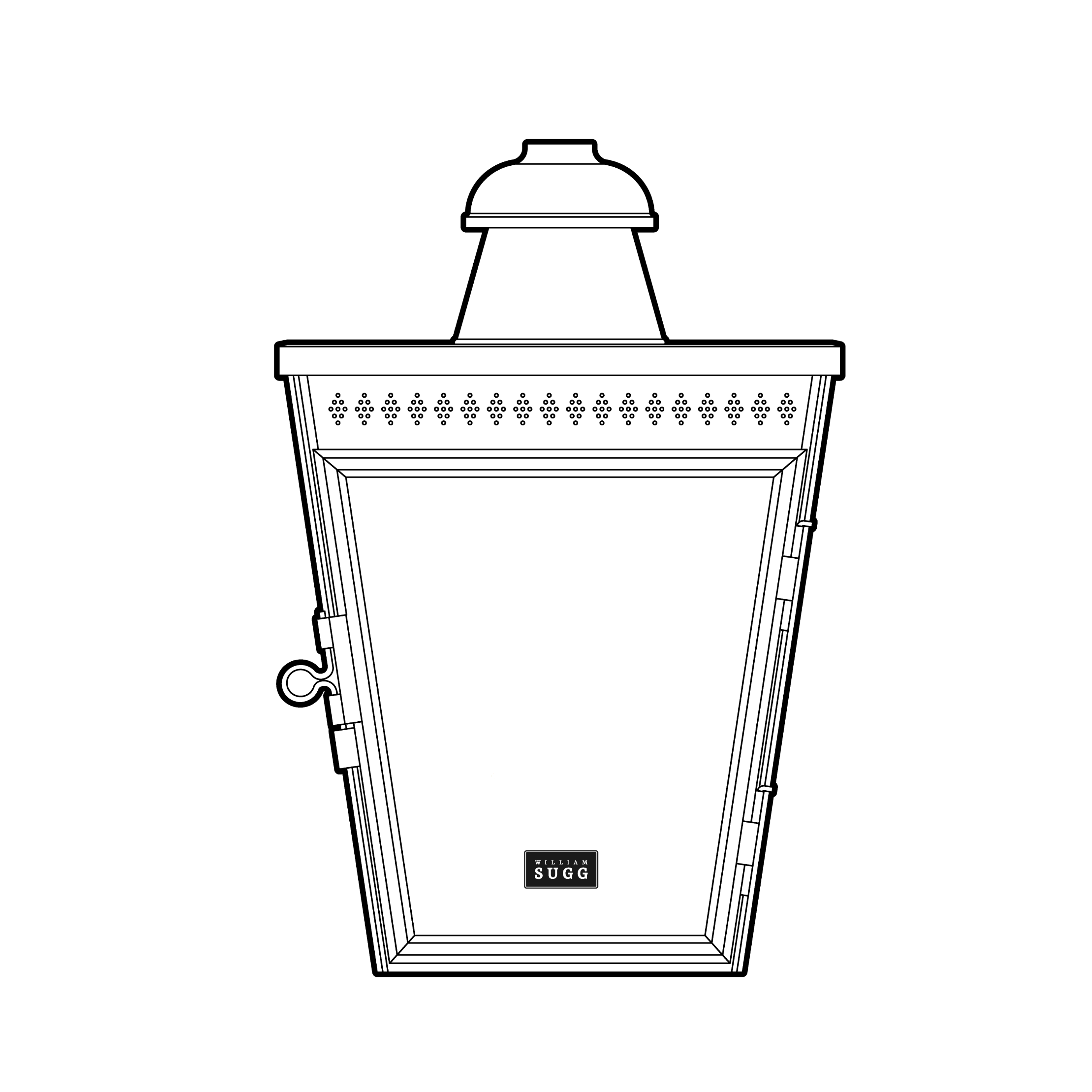 Victoria Back Lamp. Gas.