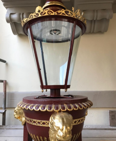Close up, bespoke heritage lantern