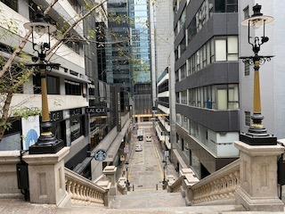 Liddell Street Steps & Lamps rebuilt 2